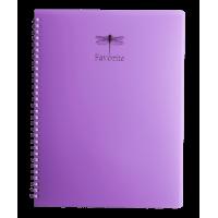 Тетрадь для записей Favourite Pastel А4, 80л. клетка (сиреневый)