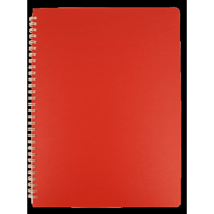 Тетрадь для записей Bark А4, 60л. клетка (красный)