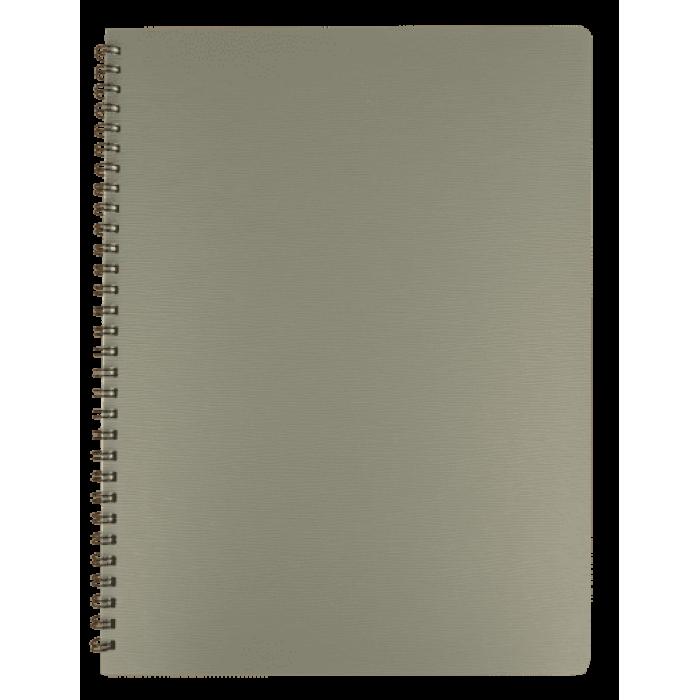 Зошит для записів Bark А4, 60арк. клітинка (сірий)