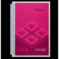 Зошит на спирали Prime  А5, 96 аркушів (бічна спіраль) рожевий BM.24551101-10