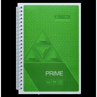 Зошит на спирали Prime  А5, 96 аркушів (бічна спіраль) салатовий BM.24551101-15