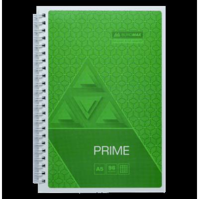 Зошит на пружині Prime А4, 96арк. (бічна спіраль) клітинка, салатовий bm.24451101-15