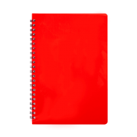 Зошит для записів Gloss А5, 80арк. (клітинка) червоний BM.24552151-05