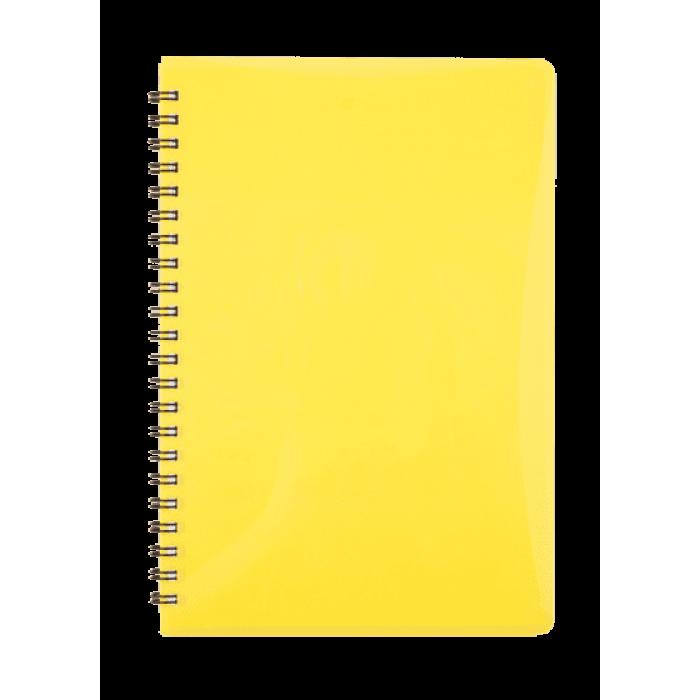 Тетрадь для записей Gloss А5, 80л. (клетка) желтый BM.24552151-08