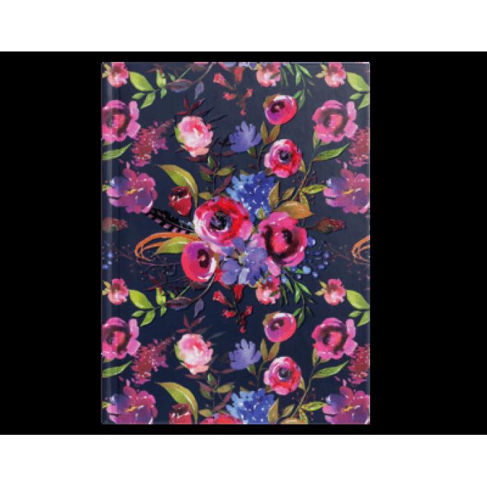 Блокнот Flora А6, 64 листа (темно-синий) bm.24614102-03