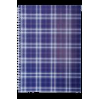 Зошит Шотландка А4, 48 аркушів, фіолетовий (бічна спіраль) BM.2590-07