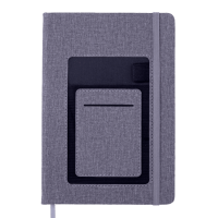 Блокнот діловий Comfort А5, 96арк. сірий (клітинка)  BM.295109-09
