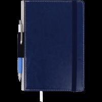 Блокнот деловой Code А5, 96л. темно-синий (нелинованный) BM.295006-03