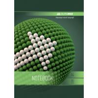 Тетрадь на пружине Sphere А5, 80 листов (боковая спираль) зеленый  bm.24552101-04