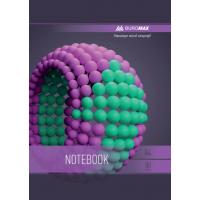 Зошит Sphere А4, 80 аркушів, фіолетовий  (бічна спіраль) BM.24452101-07