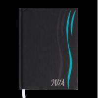 Ежедневник датированный А5 Wave (бирюзовый) 336стр