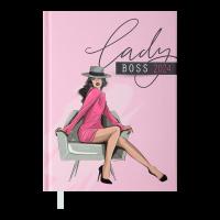 Ежедневник датированный А5 Novel (розовый) 336стр