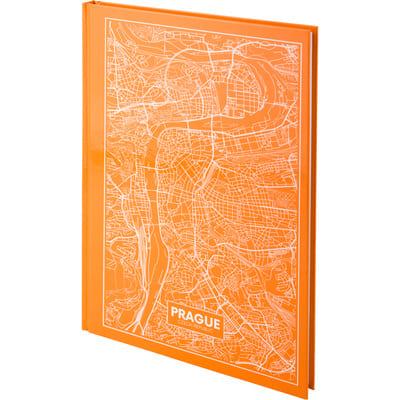 Книга канцелярская Maps Prague (персиковый) А4, 96 листов