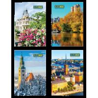Книга канцелярская А4, Города, сезоны, 96 листов (клетка) bm.2408
