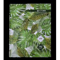 Книга канцелярська Floristica А4 192 арк (клітинка)  зелений bm.24419101-04