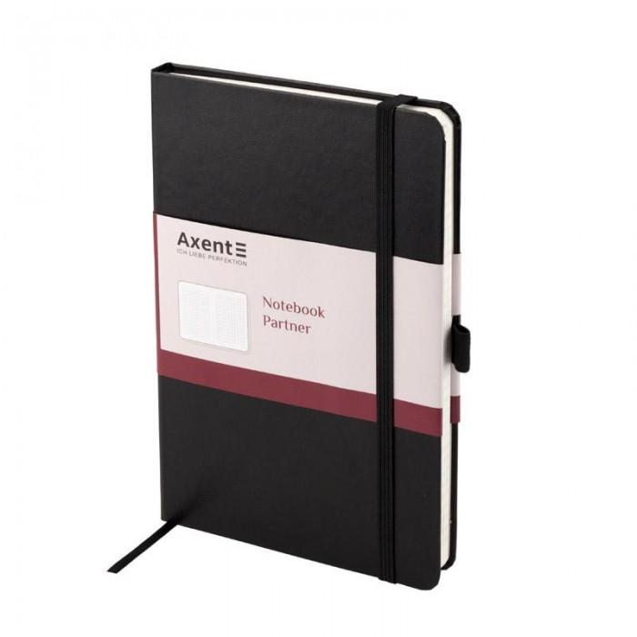 Книга записная Partner 125х195мм (черный/клетка) 8201-01-A