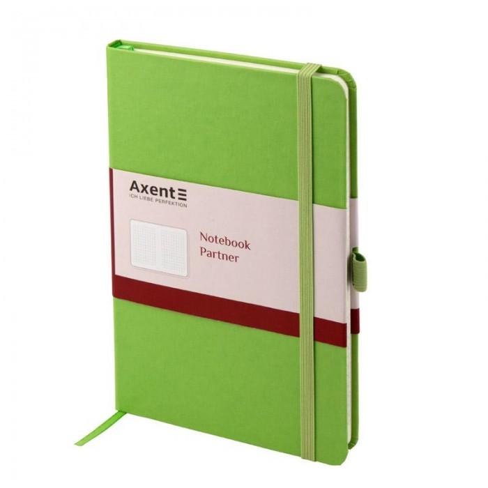 Книга записна Partner 125х195мм (салатовий/клітинка) 8201-04-A