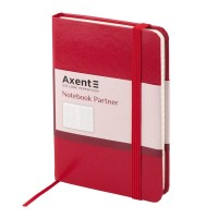 Книга записная Partner 95х140мм (красный/клетка) 8301-03-A