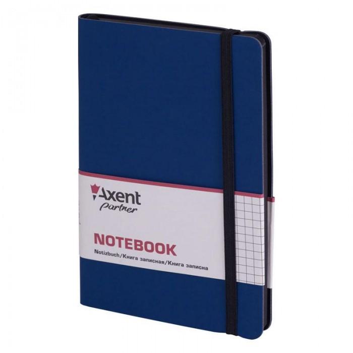 Книга записна Partner Soft 125х195мм (синій/клітинка) 8206-02-A