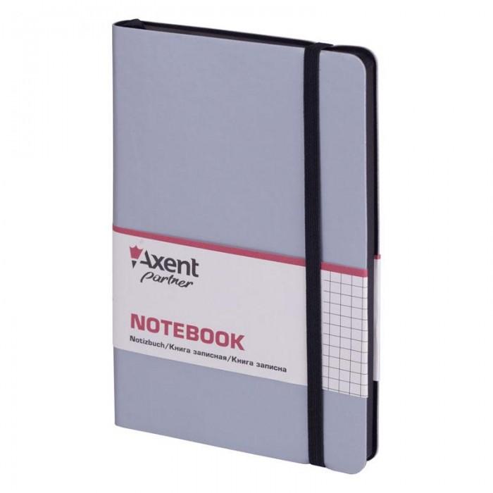Книга записная Partner Soft 125х195мм (серебряный/клетка) 8206-34-A