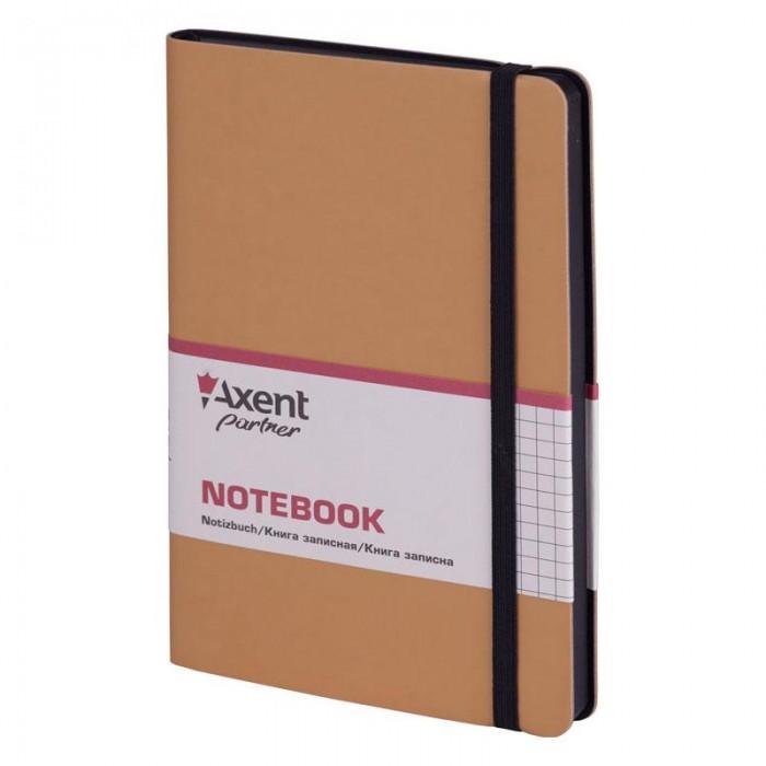 Книга записная Partner Soft 125х195мм (золотой/клетка) 8206-35-A