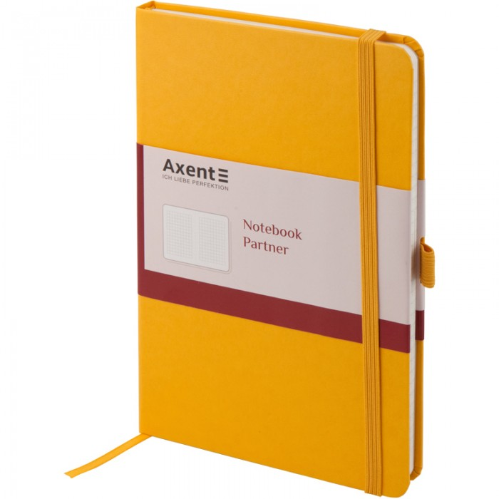 Книга записная Partner 125х195мм (желтый/клетка) 8201-08-A