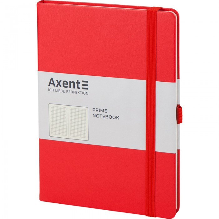 Книга записная Partner Prime 145х210мм (красный/клетка) 8305-06-a