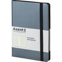 Книга записная Partner Soft 125х195мм (серебристо-синий/клетка) 8206-14-A