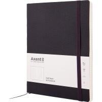 Книга записная Partner Soft L 190х250мм (черный/клетка) 8615-01-a