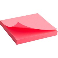 "Блок бумаги с липким слоем ""Brilliant"" 75х75, ярко-розовый 2414-13-A"