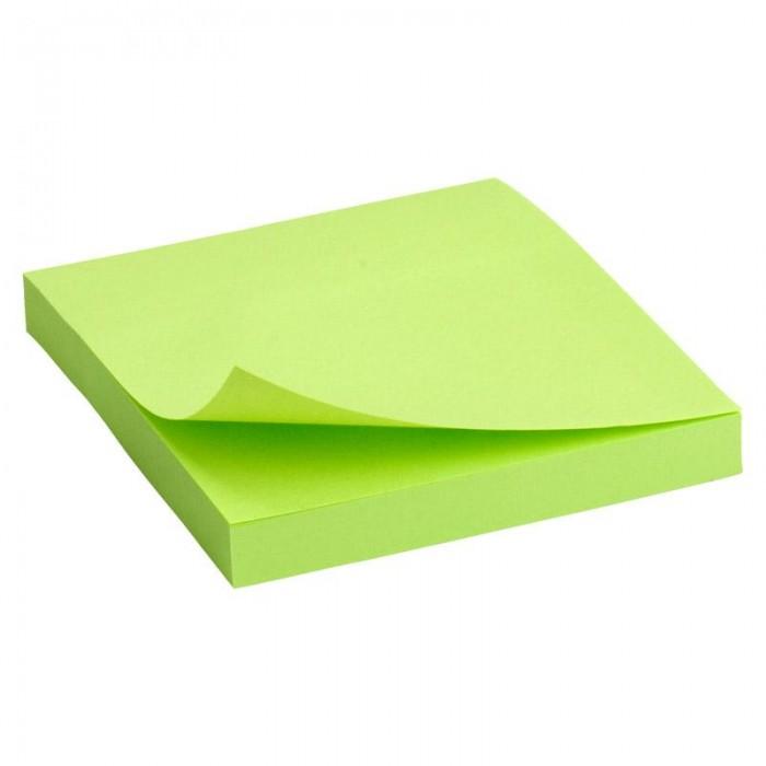 Блок паперу з клейким шаром 75х75мм. зелений D3414-12