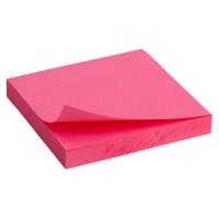 Блок паперу з клейким шаром 75х75мм. яскраво-рожевий D3414-13