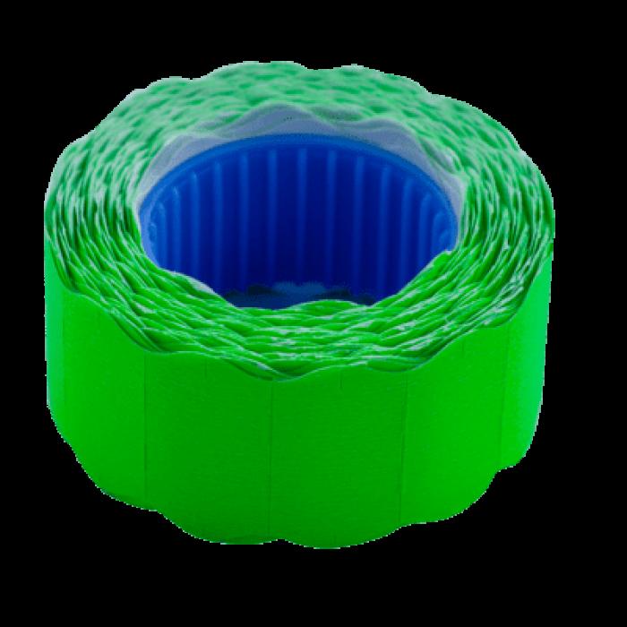 Цінник фігурний, зовнішня намотка 22х12мм (зелений) 500шт./6м