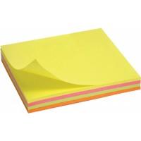 Блок бумаги с липким слоем 75х75, неоновый 2325-02-A