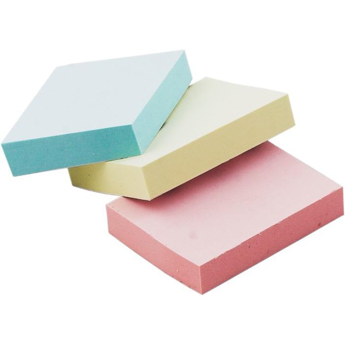Блок бумаги для заметок с клейким слоем 38х51мм (ассорти) 100л.