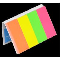 Закладки бумажные NEON с клейким слоем, 20х50мм, 4 блока по 50л 7576001PL