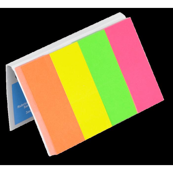 Закладки паперові NEON з клейким шаром, 20х50мм, 4бл по 50арк 7576001PL