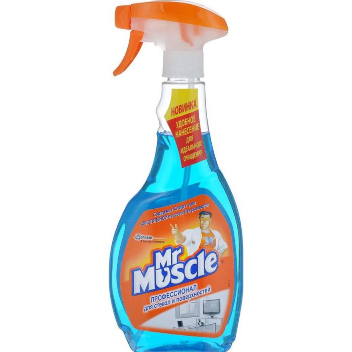 MR.MUSKUL средство для стекла (синий) 500мл.