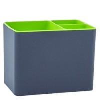 Підставка під столові прибори Плюс, пластик (гранітовий з оливковим)