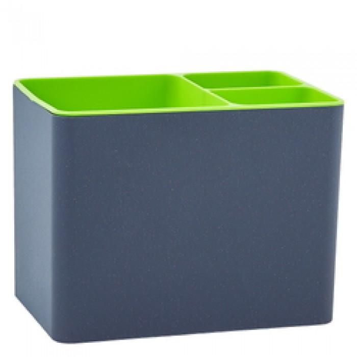 Подставка под столовые приборы Плюс, пластик (гранитовый с оливковым)