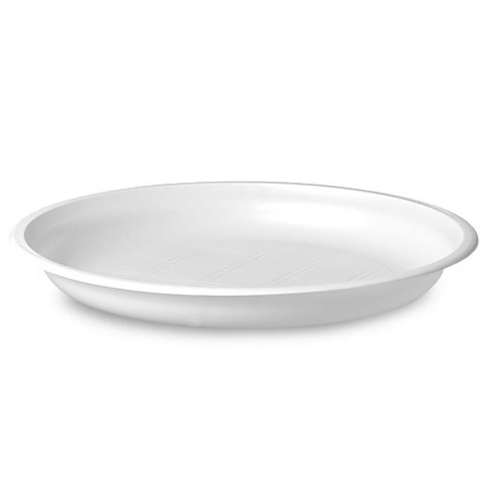 Тарілка одноразова десертна 165мм, 100шт/уп