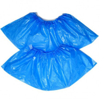 Бахилы полиэтиленовые голубые 50пар/уп