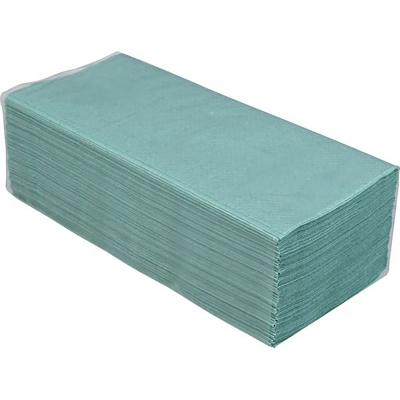 Полотенца бумажные V-складка (зеленые) 10100107