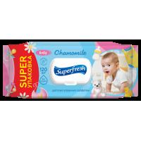 Серветка волога Superfresh Baby chamomile 120шт з клапаном