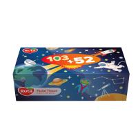 Серветки в коробці косметичні Kids 20х21см, 155шт., 2-шарові