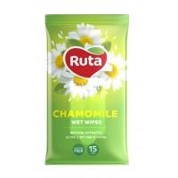 Салфетка влажная Ruta Selecta Chamomile с экстрактом ромашки 15шт