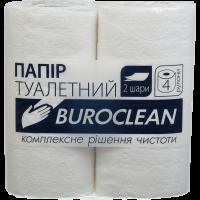 Туалетний папір Buroclean, білий 4шт/уп
