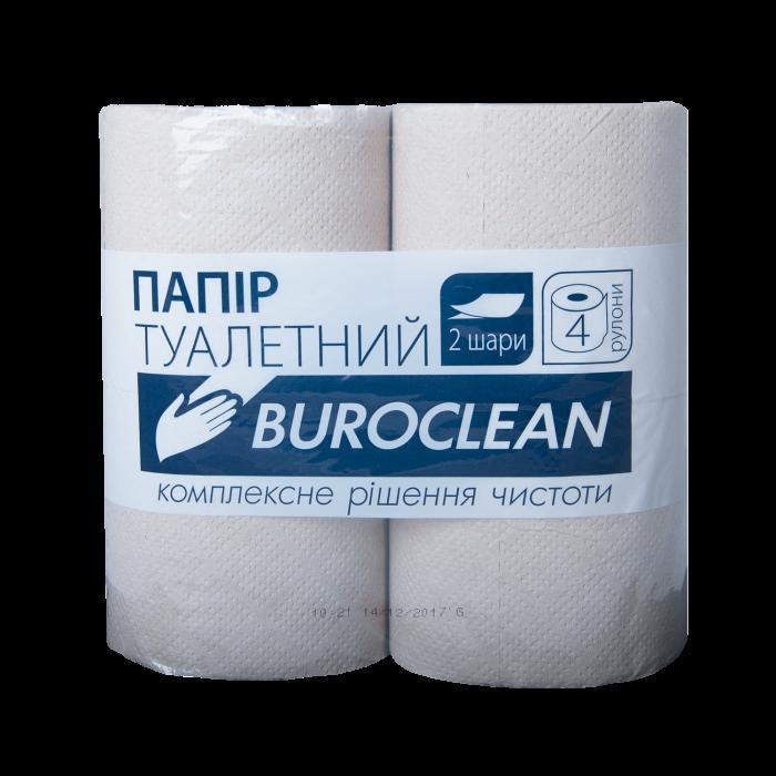 Туалетний папір Buroclean, сірий 4шт/уп