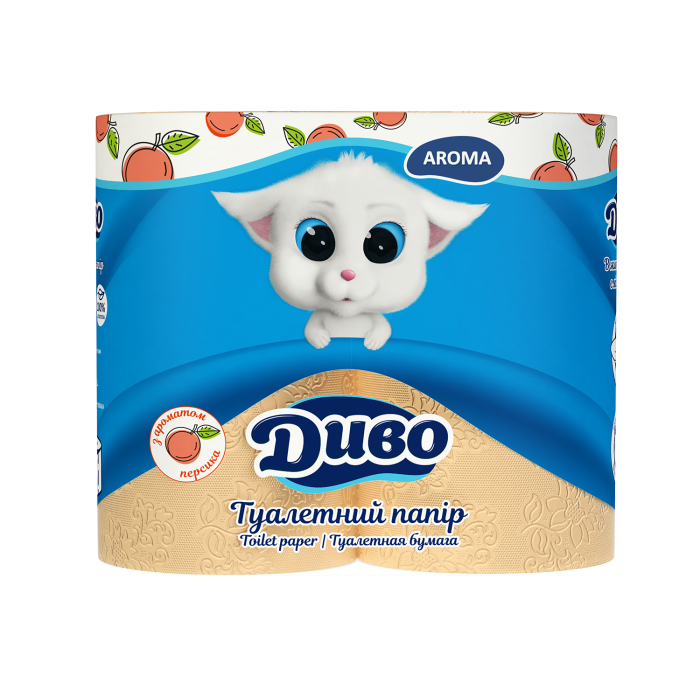 Туалетная бумага Диво Aroma (с ароматом персика) 4шт/уп
