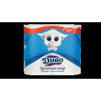 Туалетний папір ДИВО білий 4шт/уп